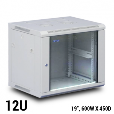 Toten 12U wall mount rack, 600mmx450mm