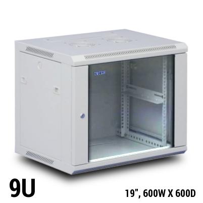 TOTEN 9U Wall Mount Rack / Cabinet, 600D X 600W