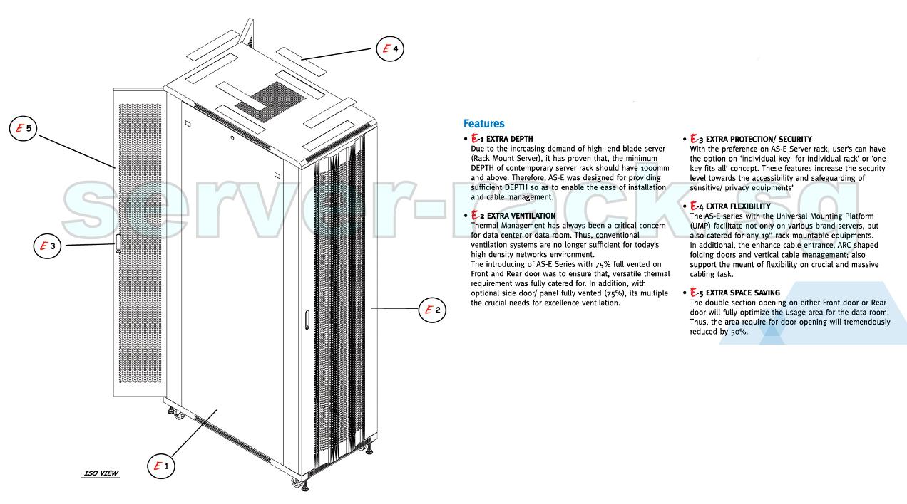 Toten Professional 42u Server Rack 800w X 1000d