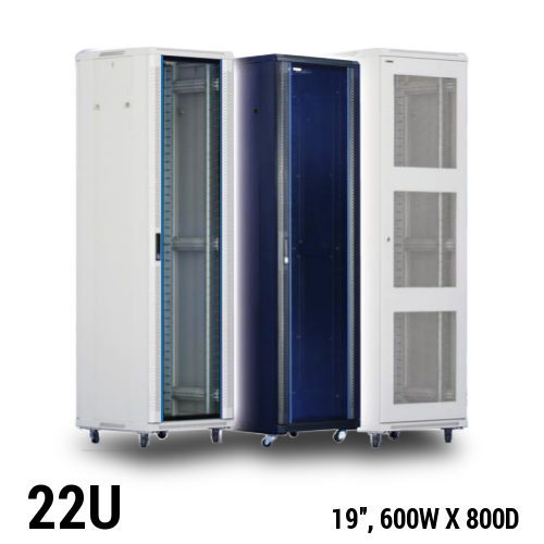 22U equipment rack