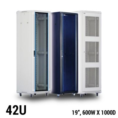 Toten 42U server rack, 600 x 1000